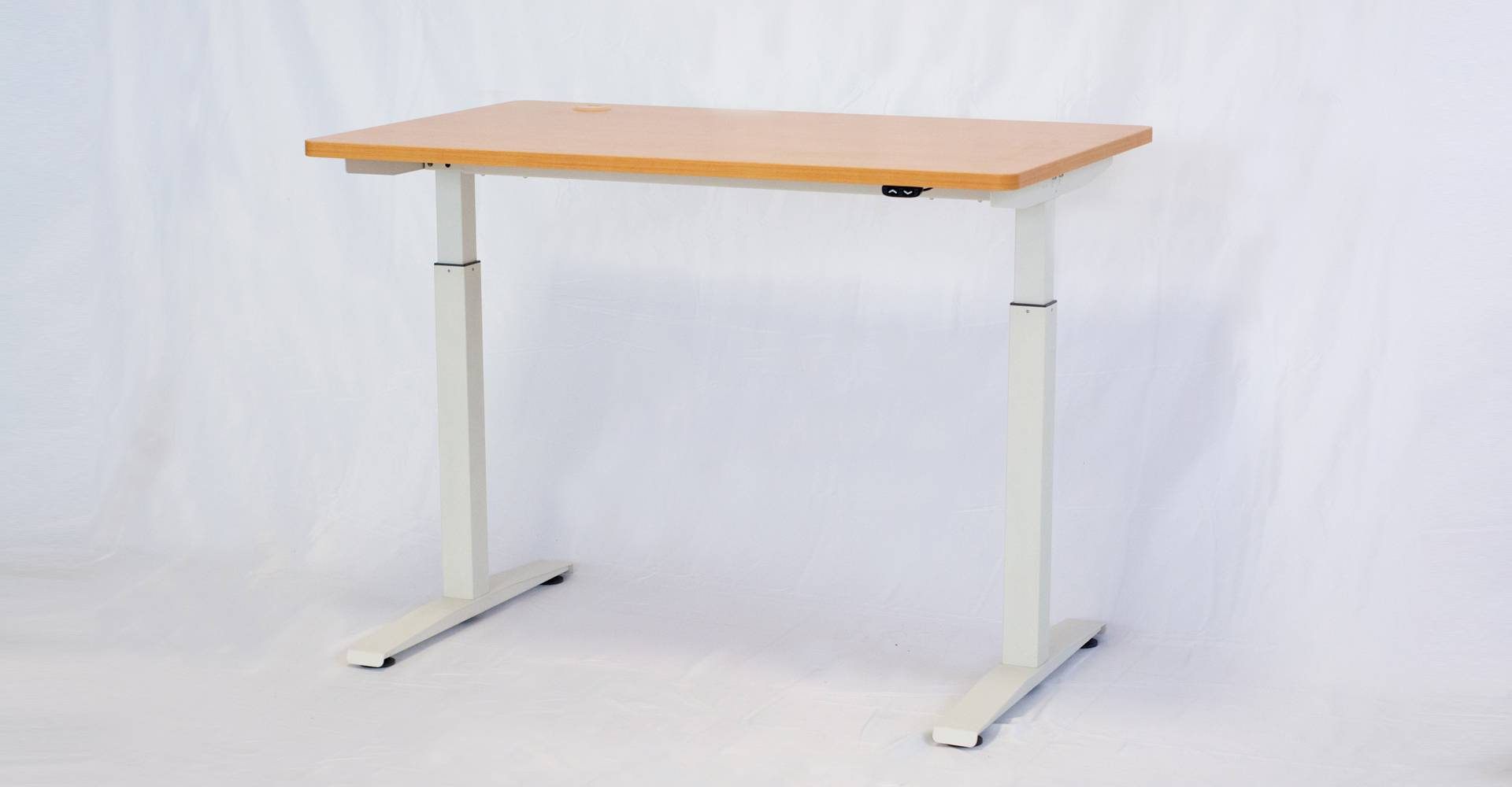 Stand Single White Frame and 4ft BeechTop